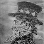 """The Living Uncle Sam"", 19000 Personen (Mole/Thomas / 1919 / via punjabiportal.com)"