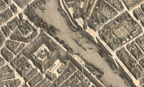 Historische Karte von Paris (1739 / via mapire.eu)