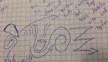 """Zeichnung zu: """"O holde Maid"""""""