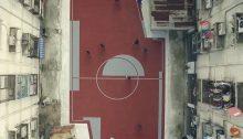 """Ein """"ungewöhnlicher"""" Fußballplatz von Oben (by boredpanda.com)"""