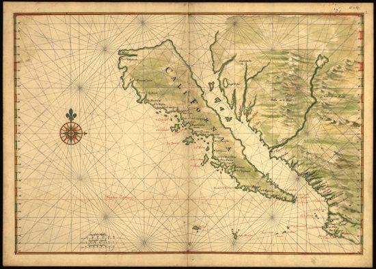 Kalifornien als Insels, von 1650 (wikipedia.org)