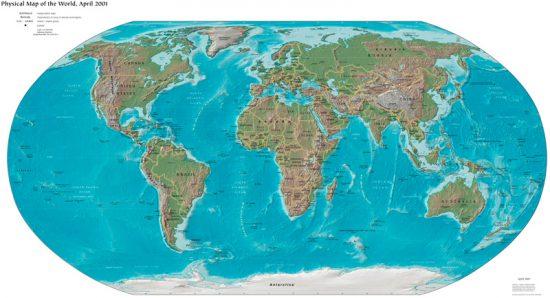 Schulkarte in Robinson Projektion (via wikipedia.org)