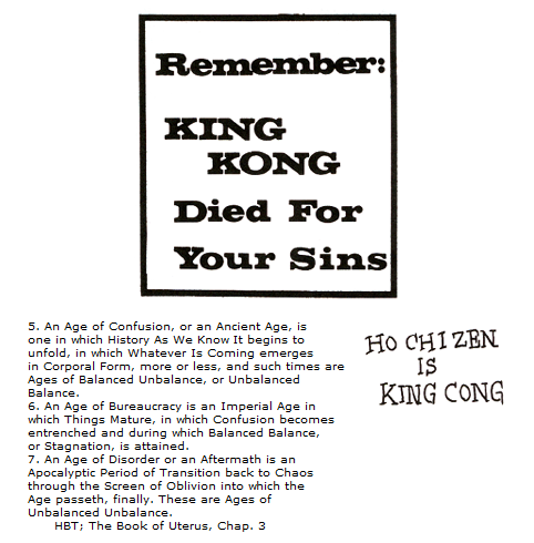 """Remember: King Kong Died for Your Sins"", ex Principia discordia"