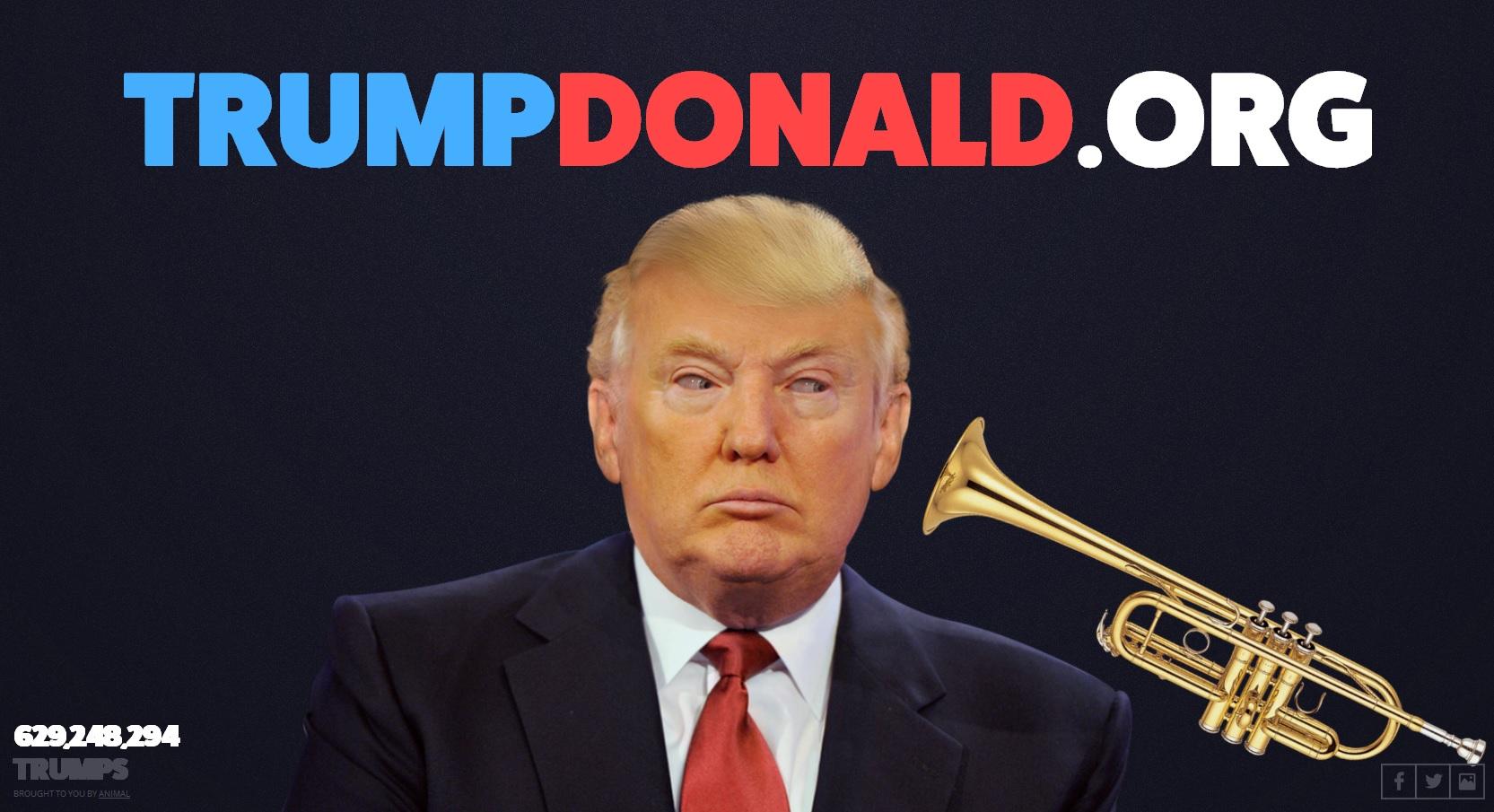 Den Donald trompeten