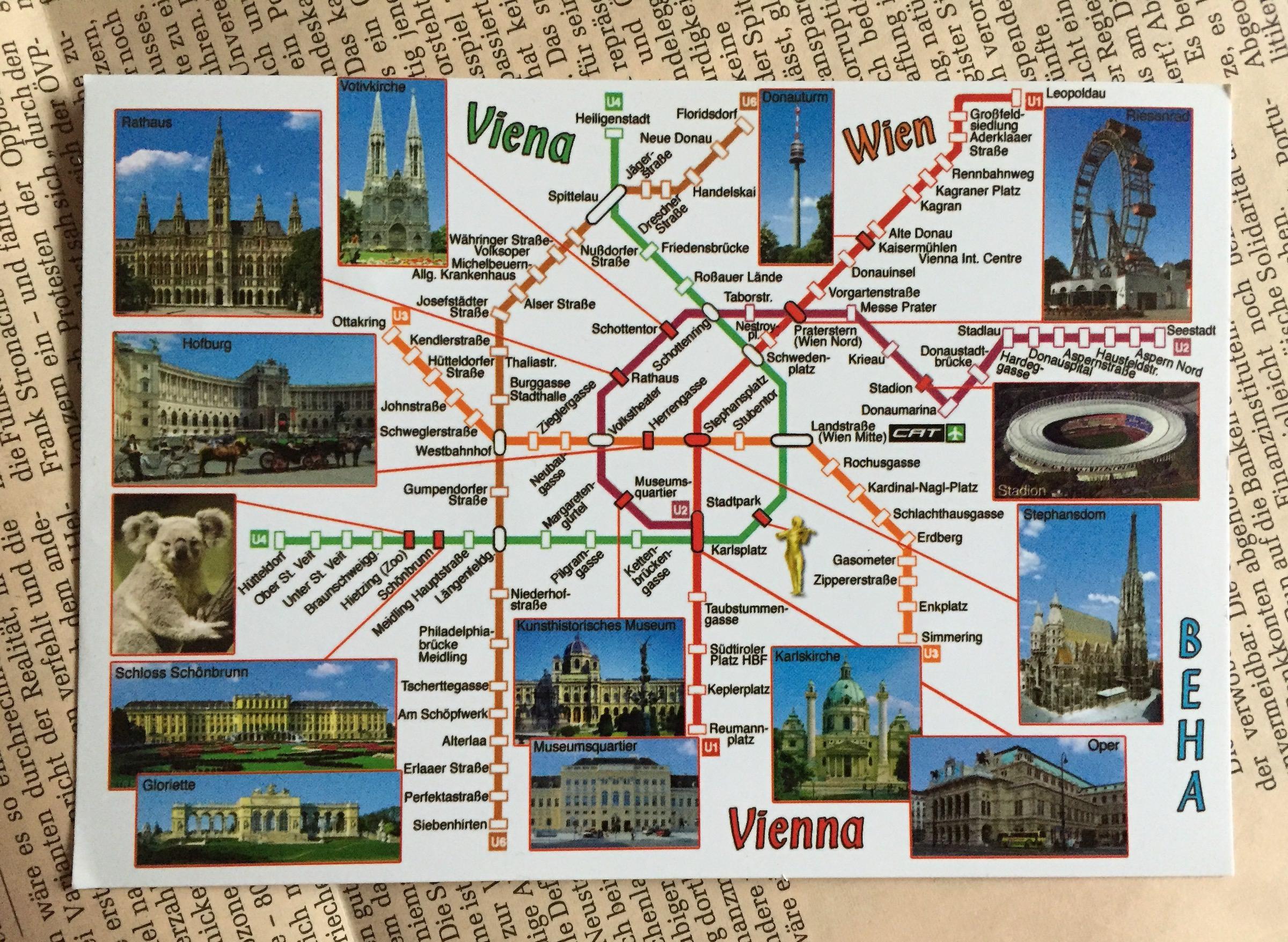 Postkarte aus… Wien
